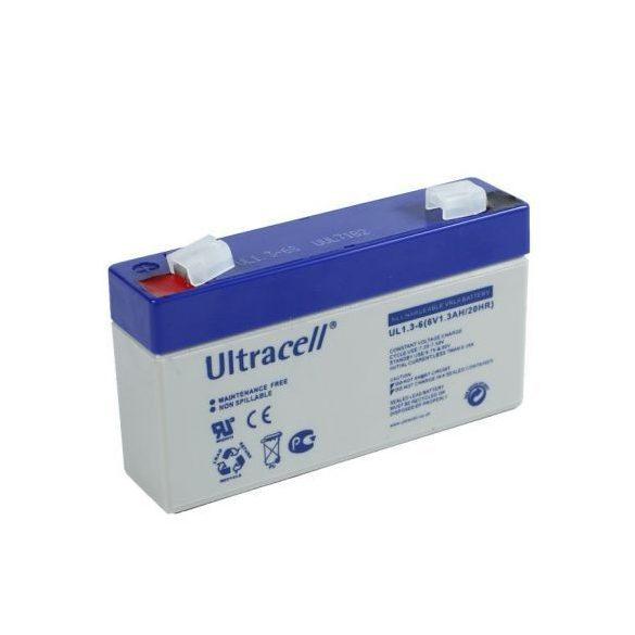 Ultracell AU-06013 6V 1.3Ah gondozásmentes akkumulátor