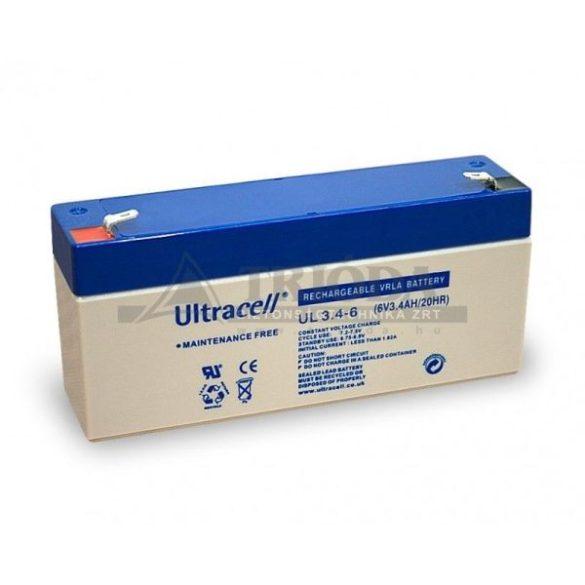 Ultracell AU-06034 6V 3.4Ah gondozásmentes akkumulátor