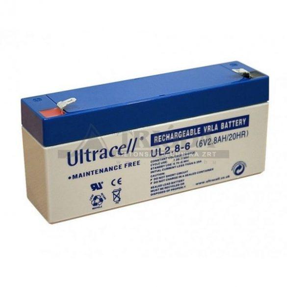 Ultracell AU-06028 6V 2.8Ah gondozásmentes akkumulátor