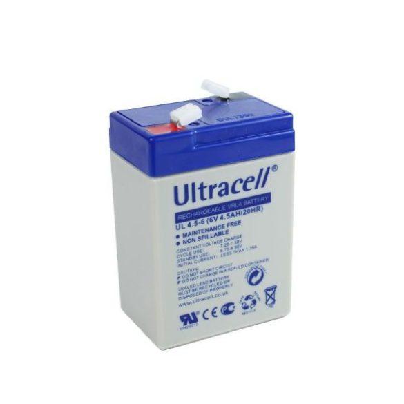 Ultracell AU-06045 6V 4.5Ah gondozásmentes akkumulátor