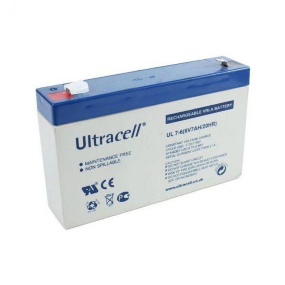 Ultracell AU-06070 6V 7Ah gondozásmentes akkumulátor