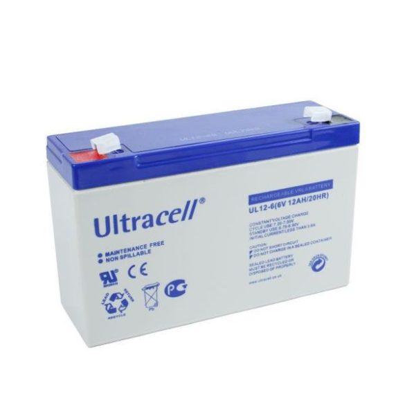 Ultracell AU-06120 6V 12Ah gondozásmentes akkumulátor