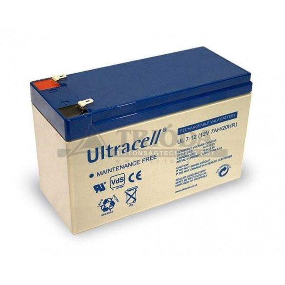 Ultracell AU-12070 12V 7Ah gondozásmentes akkumulátor