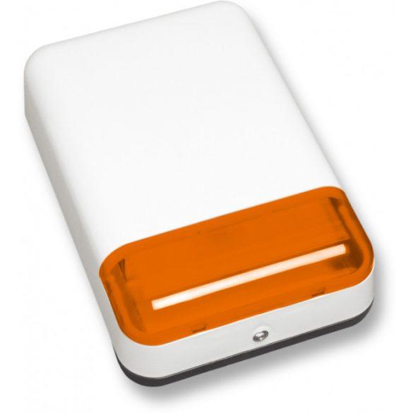 Satel SPLZ-1011 O Kültéri hang- és fényjelző; akkumulátorral szerelt; ultrafényes LED-ek; piezo hang; műanyag burkolat