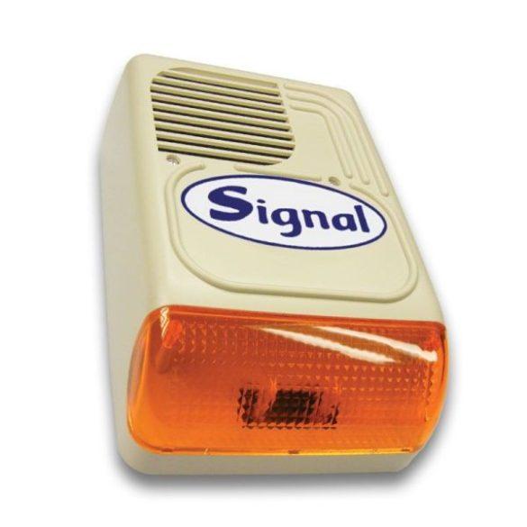 Signal PS-128-7 kültéri hang- és fényjelző sziréna 7 hanggal és 2 bemenettel (korábban: PS-128-7/Signal kültéri hang-fényjelző)