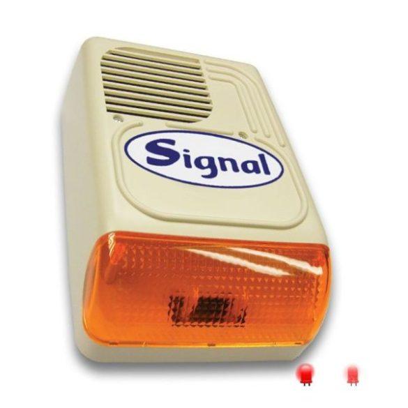 Signal PS-128-3 kültéri hang- és fényjelző sziréna központ állapotának jelzése funkcióval (korábban: PS-128AL-7 kültéri hang-fényjelző LED-es állapotjelzéssel)
