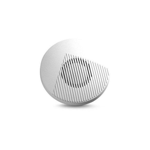 SATEL SPW100 piezo beltéri sziréna, kör alakú, fehér színű műanyag, szabotázsvédett házban
