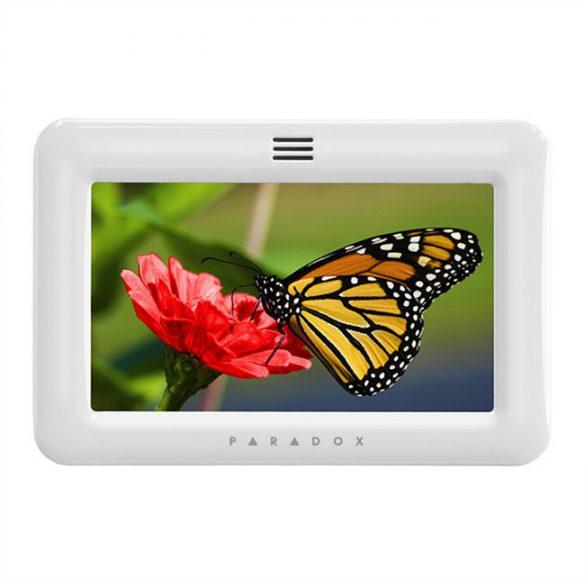 PARADOX-TM50 érintésérzékeny LCD kezelő, EVO/MG/SP kompatibilitás