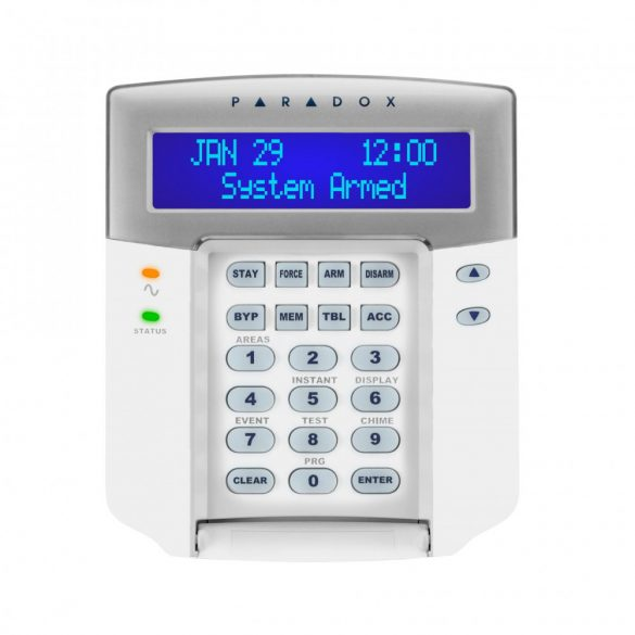 PARADOX-K641+ ÚJ Dizájn, 32 karakteres kék LCD kezelő
