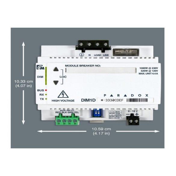 PARADOX-DIM1D 1 csatornás fényerő szabályozó modul Imperial központhoz