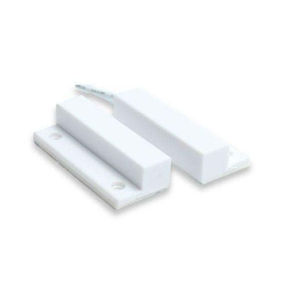 MC21SW nyitásérzékelő, felületre ragasztható, oldalsó kábelkivezetés, fehér