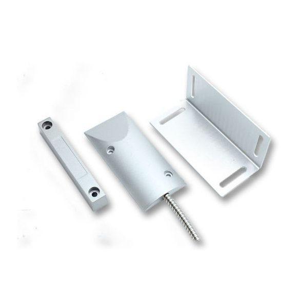 AX-MS20 (MET44) fém tokozott nyitásérzékelő, lépésálló, fém gégecsöves, L konzolall