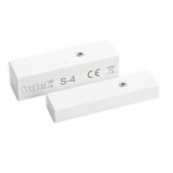 Satel S-4 Mágneses nyitásérzékelő; felületre szerelhető; szabotázs áramkörrel; érzékelő: 58.5x16, 5x15.3 mm