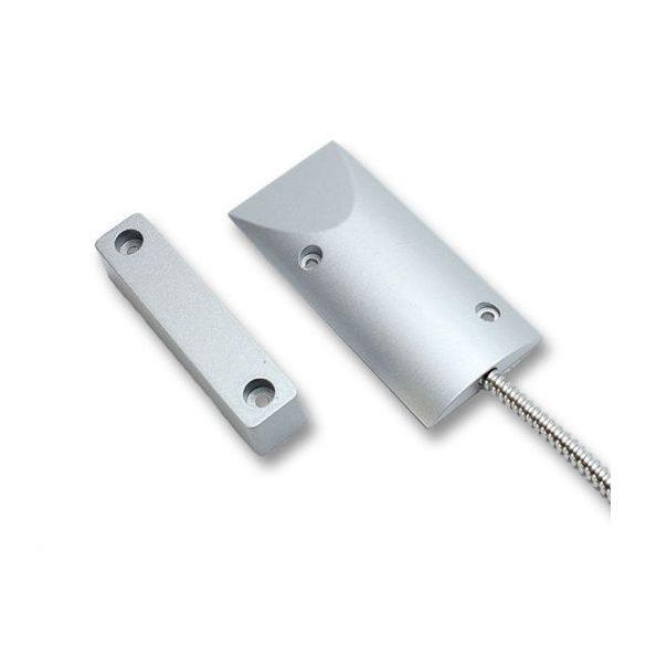 AX-MS18 fém tokozott nyitásérzékelő, lépésálló, fém gégecsöves, konzol nélkül