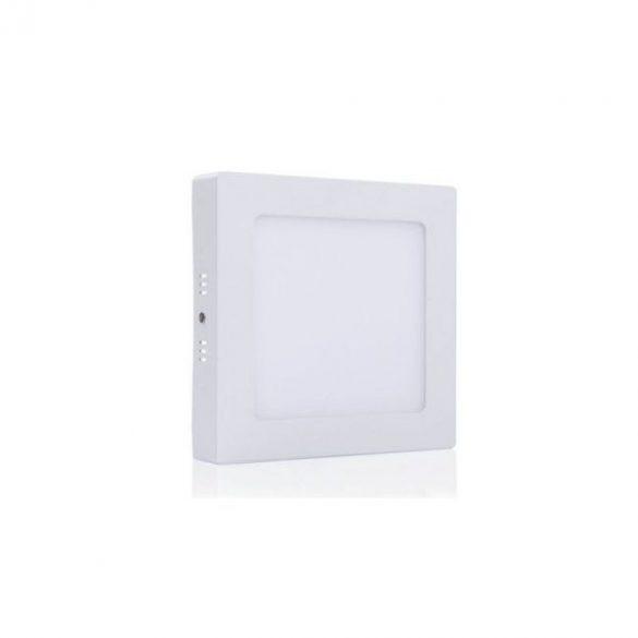 LED panel, 18W, falra szerelhető, négyzet, opál üveg, meleg fehér, 2242