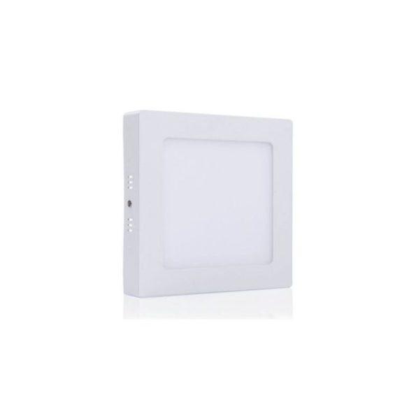 LED panel, 18W, falra szerelhető, négyzet, opál üveg, természetes fehér, 2255