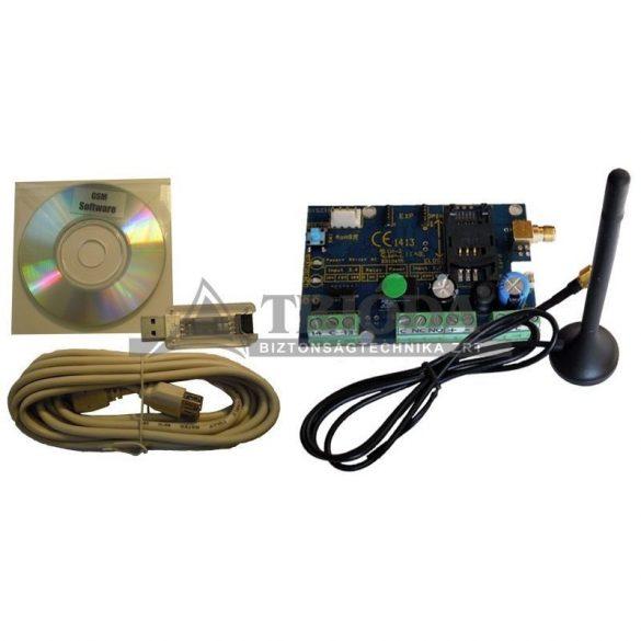 GMAX GSM+USB programozó szett  GSM kommunikátor  hanggal 4 bemenet 1 kimenet
