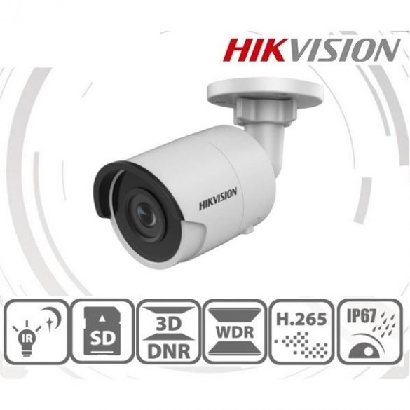 Hikvision DS-2CD2043G0-I (4mm) 4MP IP csőkamera,H265+,IP67,IR30m,ICR,WDR,PoE,SD