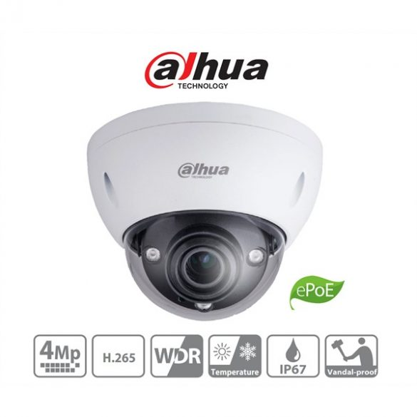 DAHUA IPC-HDBW5431E-ZE 4MP IP IR dome kamera motoros zoommal