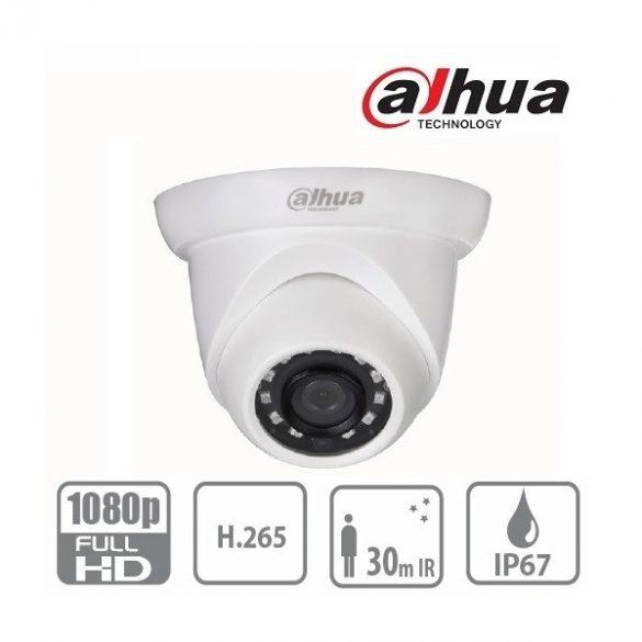 DAHUA IPC-HDW1230S 2.8mm IP dome kamera,2MP,PoE,IR táv:30m,DWDR,IP67