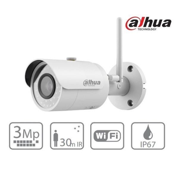 DAHUA IPC-HFW1320S-W 2,8mm IP csőkamera, 3MP, WIFI, IR táv: 30m; MicroSD,IP67