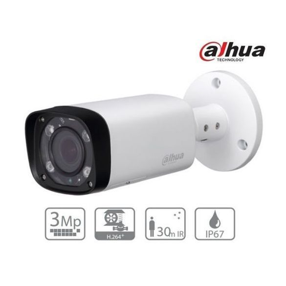 DAHUA IPC-HFW2320R-ZS-IRE6 IR motorzoom csőkamera, 2,7-12mm, 3MP