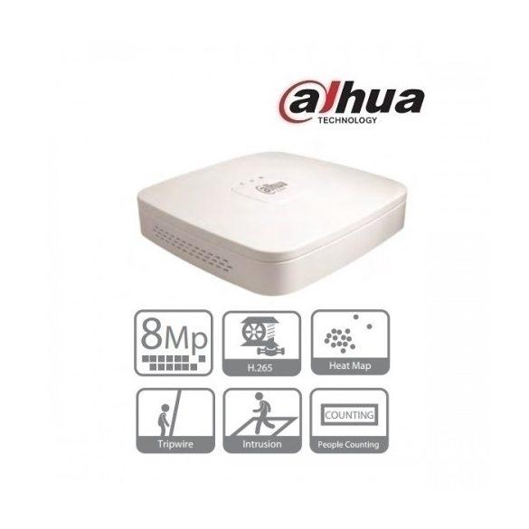 DAHUA NVR4104-4KS2 4 csatornás NVR,H265,80Mbps,HDMI+VGA,2xUSB,1xSATA