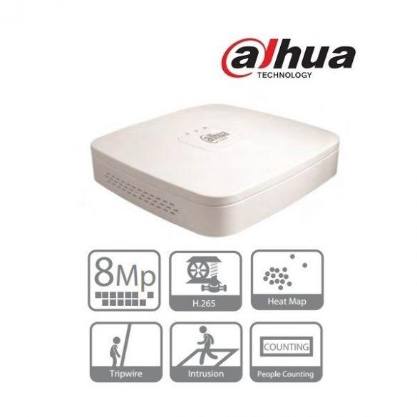 DAHUA NVR4108-4KS2 8 csatornás NVR,1080P,H.264/265,HDMI,VGA,RJ45(100m),2xUSB