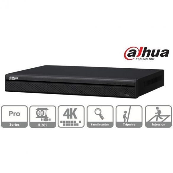 DAHUA NVR5232-4KS2 32 csatornás Pro szériás 4K IP rögzítő
