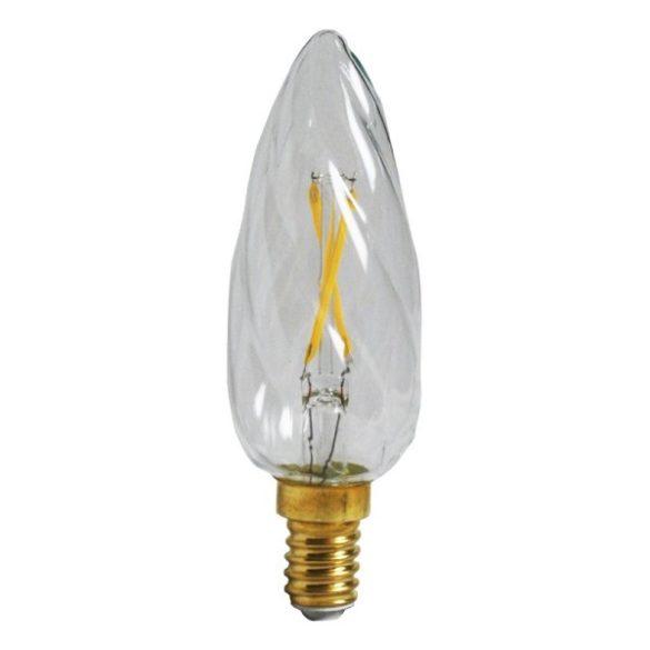 LED izzó, 4W, Filament csavart gyertya, E14, 400lumen, meleg fehér, 4307