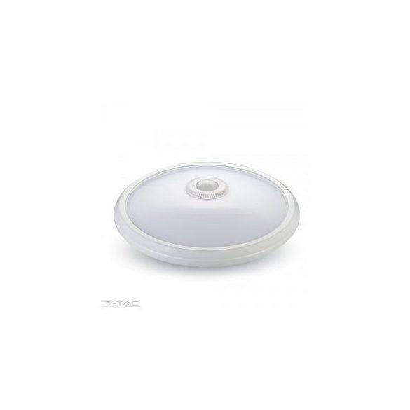 LED lámpa, 12W, mennyezeti, mozgásérzékelős, természetes fehér, 808