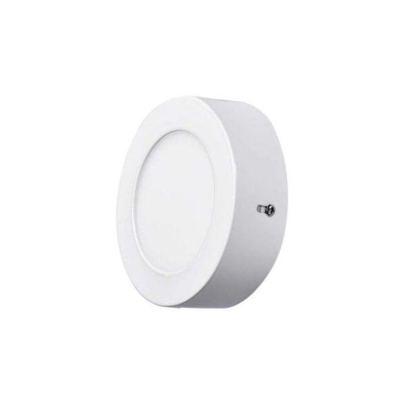 LED panel, 6W, falra szerelhető, luna, kerek, 420lumen, meleg fehér, 2232