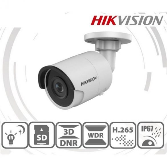 Hikvision DS-2CD2043G0-I (6mm) 4MP IP csőkamera,H265+,IP67,IR30m,ICR,WDR,PoE,SD