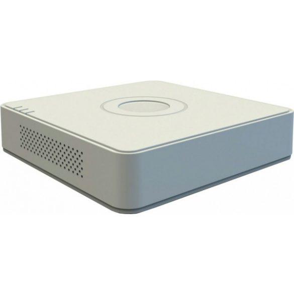 Hikvision DS-7104HUHI-K1 (S) 4 csatornás THD DVR; 8MP@8fps; 5MP@12fps; 4MP@15fps; 1080p@25fps; max.8×8MP IP, koax audio