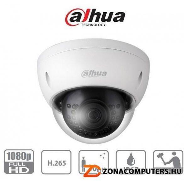 DAHUA IPC-HDBW1230EP-0306B 2MP IP vandálbiztos dome kamera, fix 3.6mm objektív