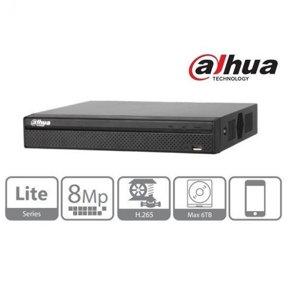 DAHUA NVR2104HS-P-4KS2 4 csatorna, H265, 80Mbps rögzítési sávszélesség, HDMI+VGA, 2xUSB, 1x Sata, 4 port PoE switch
