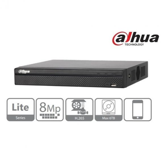 DAHUA NVR2108-8P-4KS2 NVR 8 csat., H265, 80Mbps, 8 port PoE