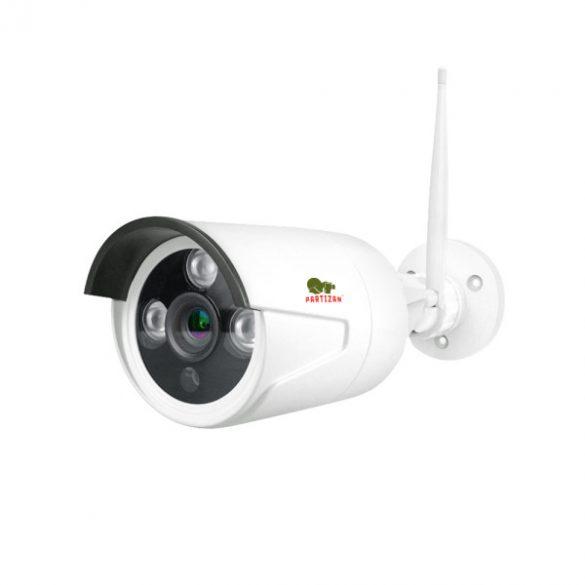 PARTIZAN 1340- 4 kamerás kültéri vezeték nélküli szett LCD kijelzővel (2 MP, 3,6mm)