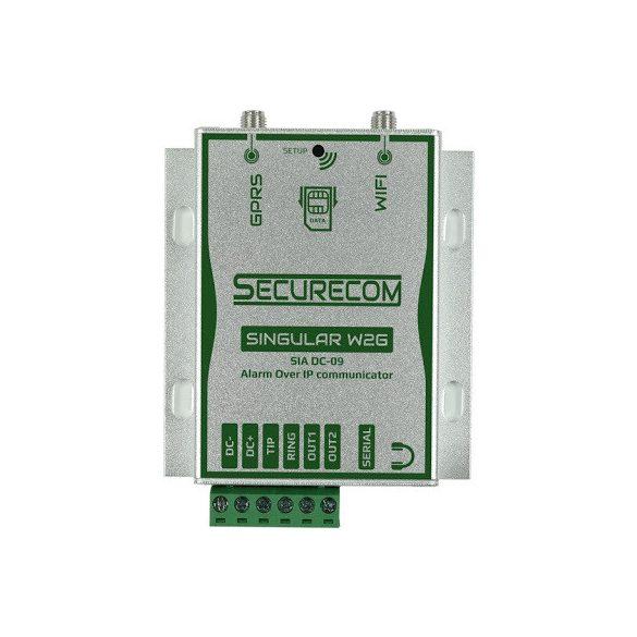 SECURECOM Singular W2G (IP alapú kommunikátor WIFI / GPRS kapcsolattal  távfelügyelethez vagy okostelefonos jelzéshez)