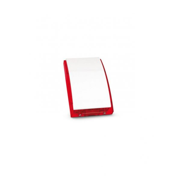 SATEL SP4001R Kültéri hang- és fényjelző, ultra fényes LED-ek, piezo hang, műanyag burkolat, fém pajzs, piros