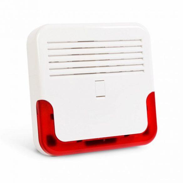 Satel SP-6500 R Kültéri hang- és fényjelző; akkumulátor beszerelhető