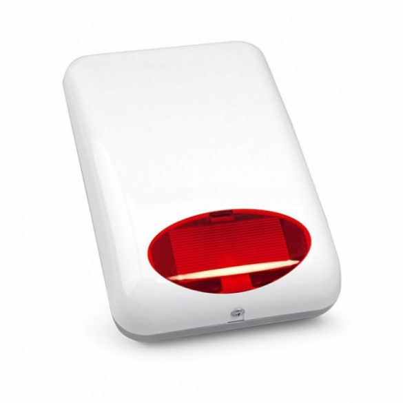 Satel SPL-5020 R Kültéri hang- és fényjelző; ultrafényes LEDek; piezo hang; műanyag burkolat;akkumulátorral bővíthető