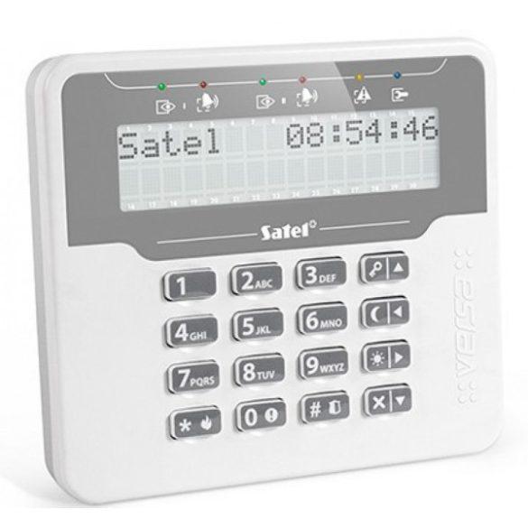 Satel VERSA-LCDM-WH LCD kezelő VERSA központokhoz; fehér háttérfény