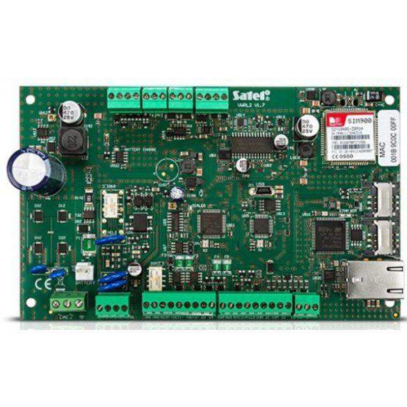 SATEL VERSAPLUS 4-30 zónás riasztóközpont beépített PSTN/GSM/ETH egységgel, műanyag ház és sziréna
